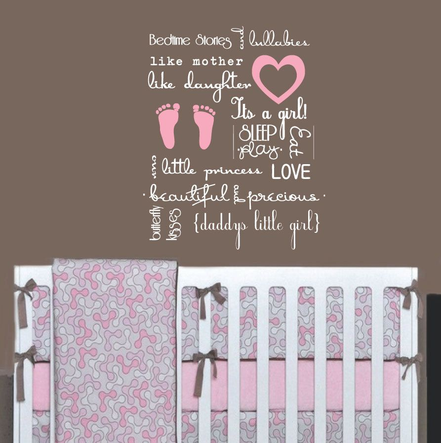 Baby Girl Subway Art Wall Decal - Childrens Wall Decal Vinyl Wall Art Sticker - Quote : baby wall decals quotes - www.pureclipart.com