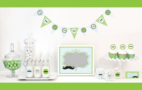 little man baby shower decor and mustache birthday party supplies, Baby shower invitation