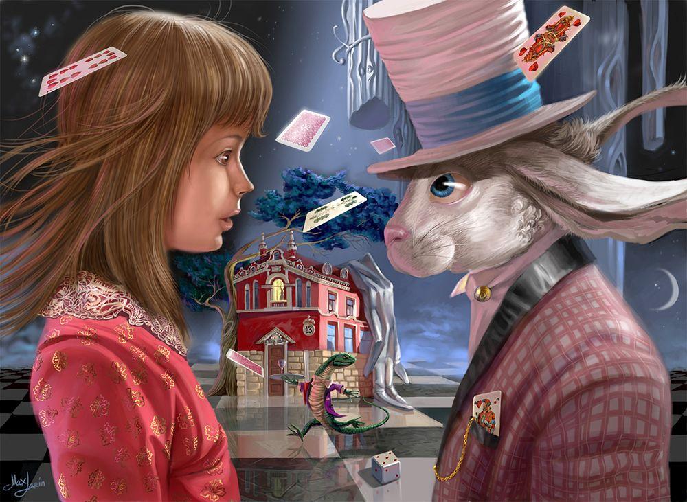 Alice and Rabbit.