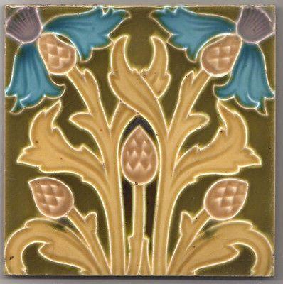details zu boizenburg jugendstil keramik fliese art nouveau pottery tile fliesen jugendstil. Black Bedroom Furniture Sets. Home Design Ideas