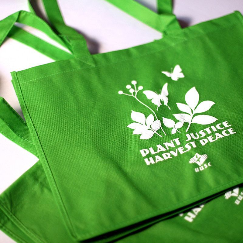 Plant Justice Wide Green Tote Bag