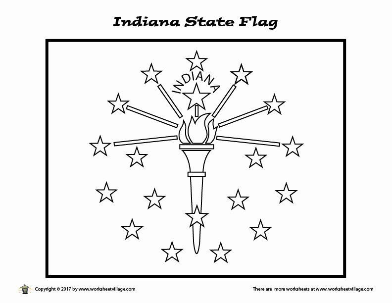 Indiana State Flag Coloring Page Di 2020