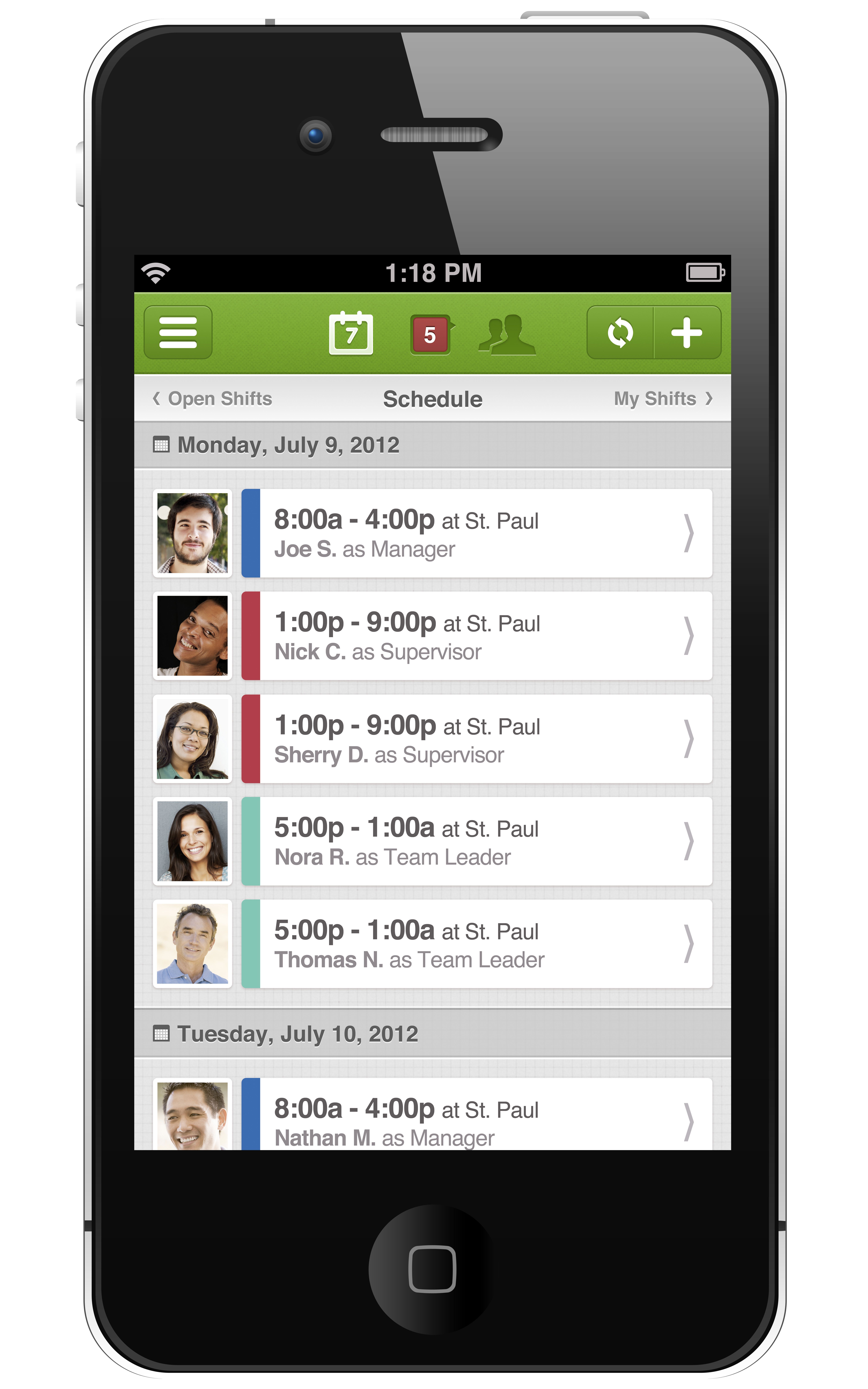 iPhone employee scheduling app. (With images) Scheduling