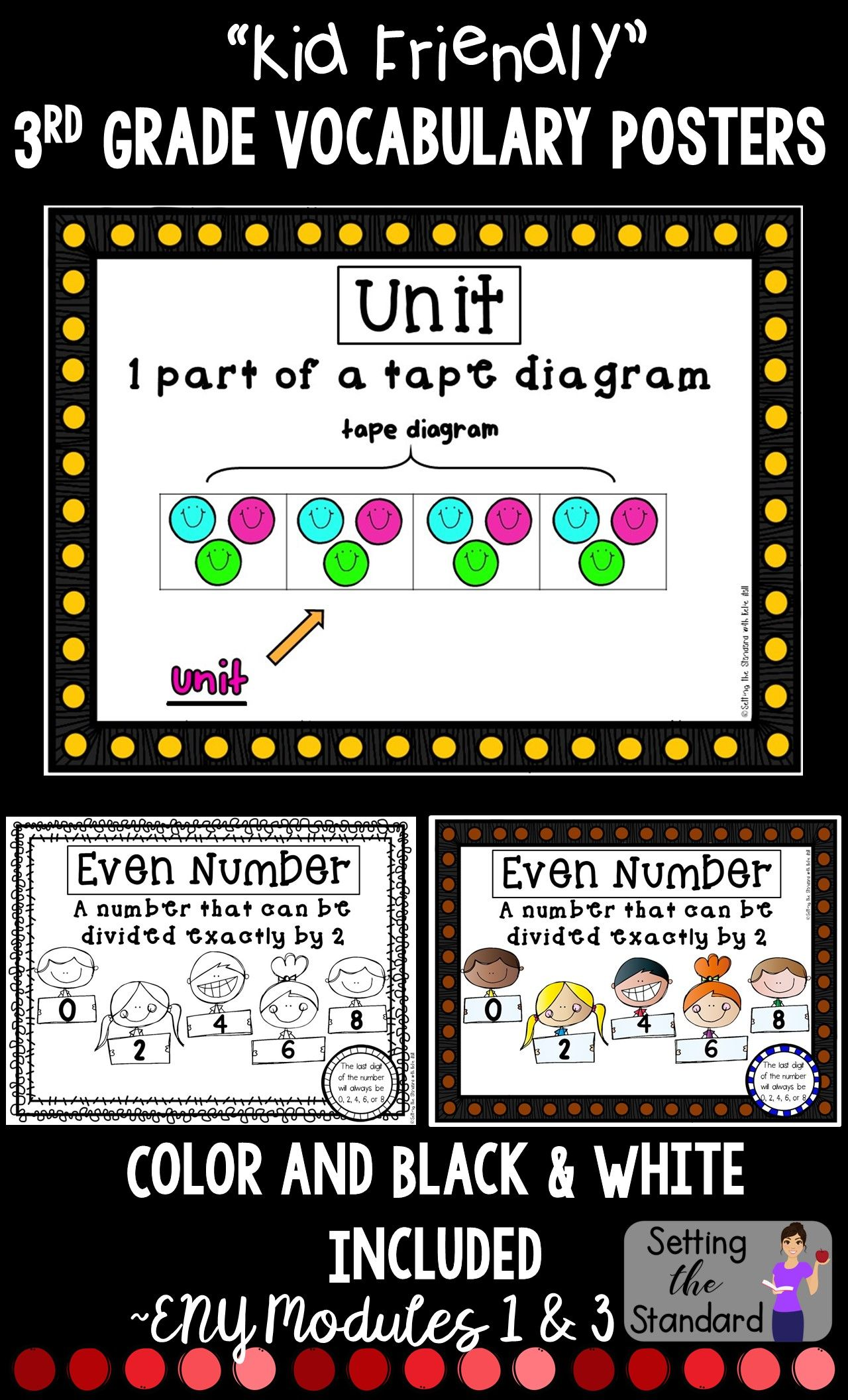 Math Word Wall Posters Module 1