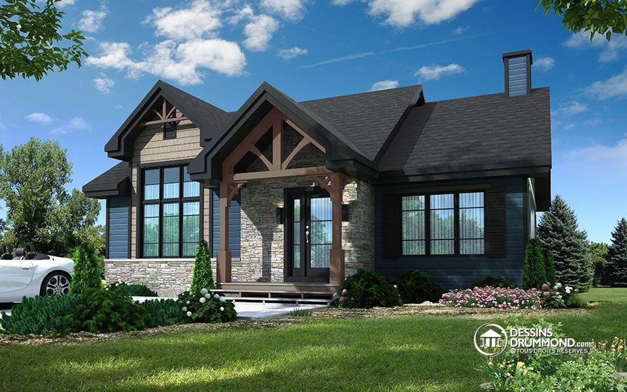 d tail du plan de maison unifamiliale w3153 maison pinterest house plans house et home. Black Bedroom Furniture Sets. Home Design Ideas