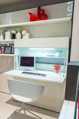 Colonna armadio porta computer a scomparsa home office clei piante pinterest armadio - Ufficio a scomparsa ...