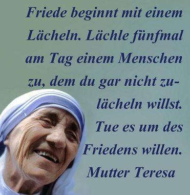 Mutter Teresa | Lebensweisheiten | Mutter teresa, Lebensweisheiten