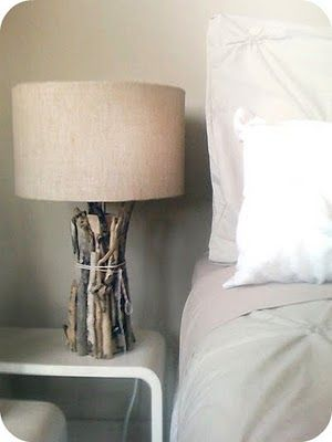 Mooie lamp, misschien zelf te maken.