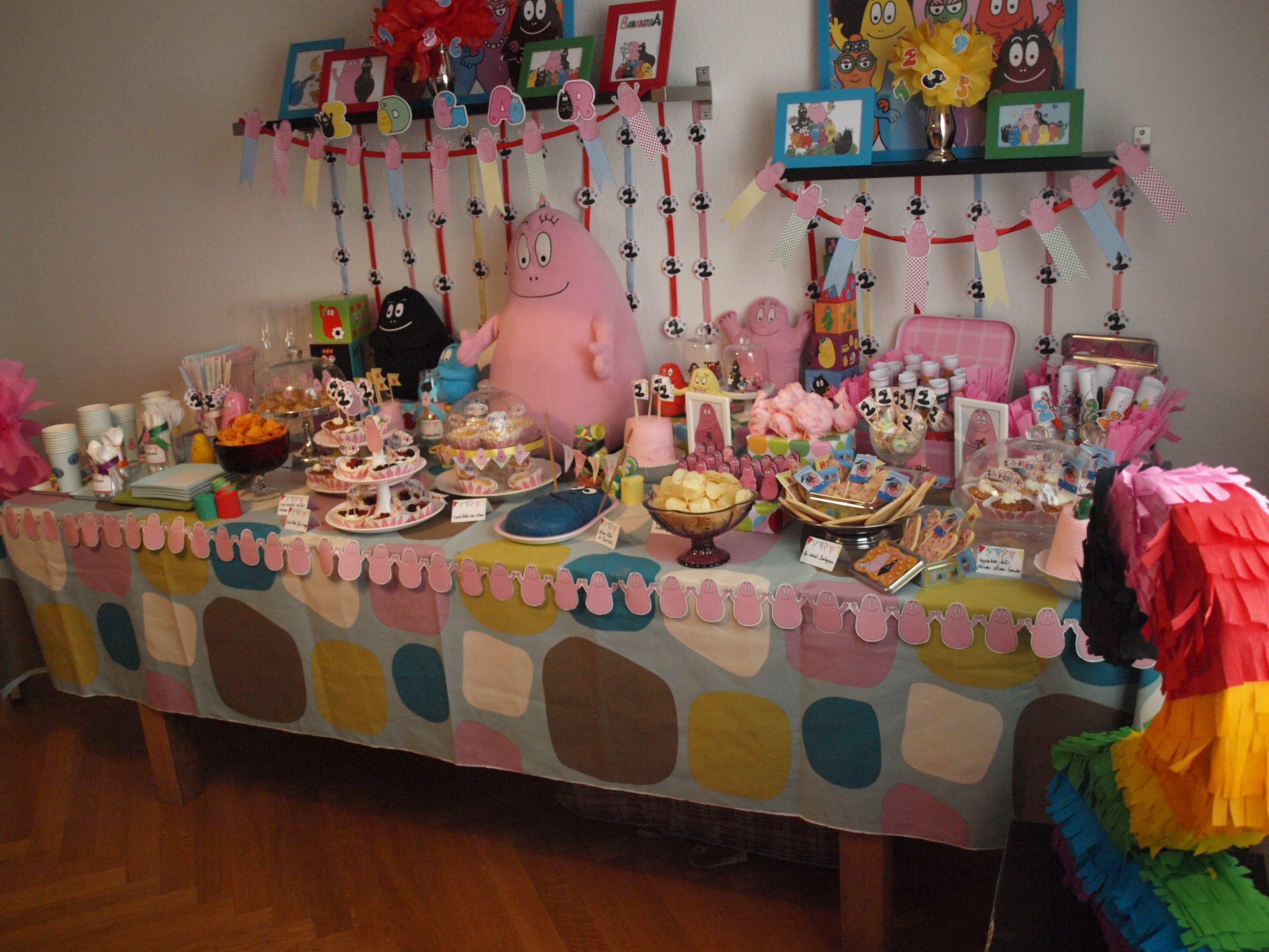 Elias 2nd birthday barbapapa theme barbapapa pinterest barbapapa anniversaires et fete - Decoration anniversaire barbapapa ...