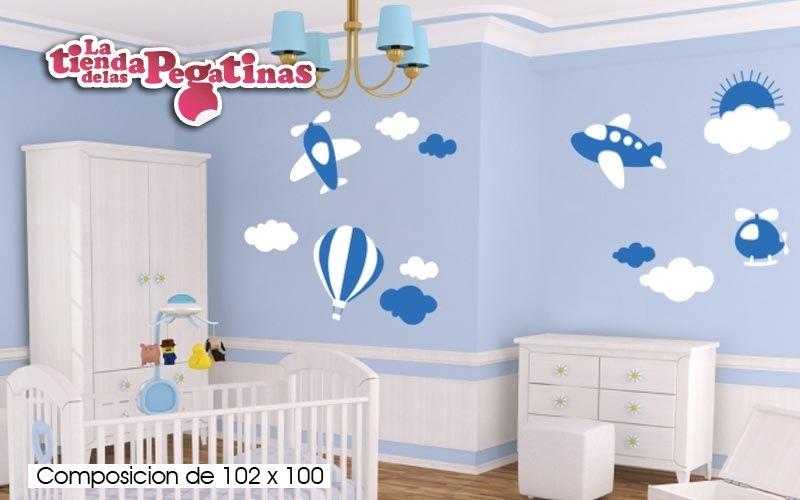 Vinilos para pared infantiles aviones buscar con google for Decoracion paredes habitacion bebe nina