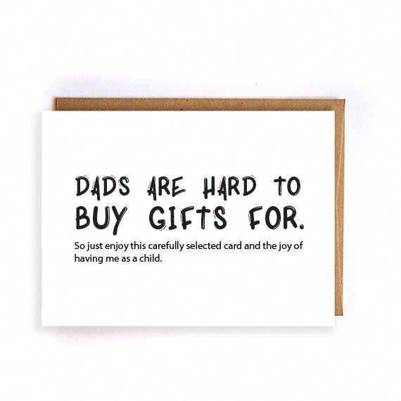 Funny Fathers Day Card Husband From Daughter Kids Gift For Him Greeting Cards Dad Birthday GC232 By ArtRuss On Etsy