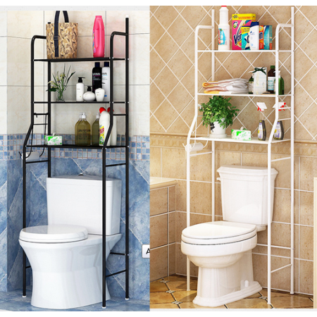 3 Tier Bathroom Over Toilet Shelf Iron Toilet Towel Storage Rack Holder Over Bathroom Shelf Organizer Toilet Shelves Bathroom Shelf Organization Toilet Storage