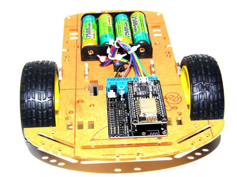 2wd L293d Wifi Rc Smart Car With Nodemcu   Shield For Esp