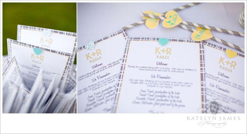 striped wedding program // miss prissy paige