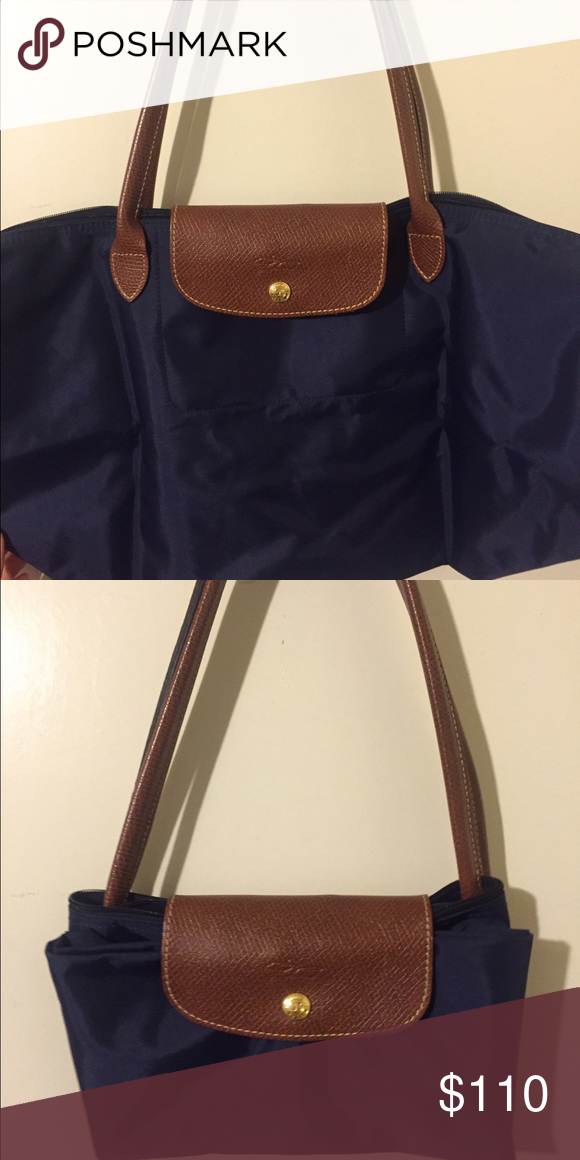 Navy Blue Longchamp Bag Authentic Medium Size Only Used Once Excellent Condition Bags Shoulder