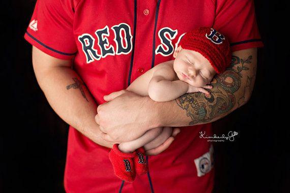 Baby Boston Red Sox Hat Knitted   Crochet by GoldenGirlzHandmade ... 643d7f084d3
