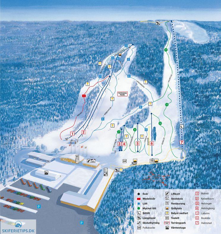 Pin By Skiferietips Dk On Piste Maps 1617 In 2019 Skiing