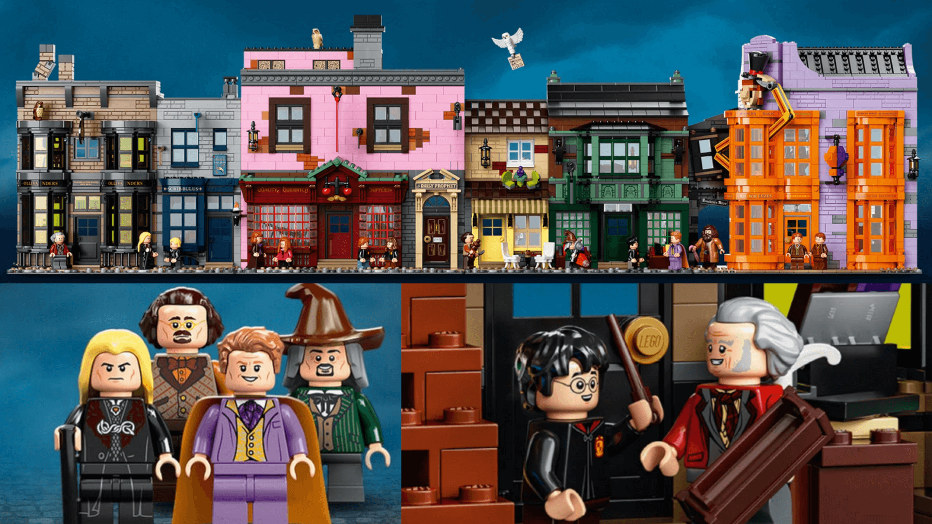Magical New Diagon Alley Harry Potter Lego Set Emerges Tomorrow Inside The Magic Harry Potter Lego Sets Lego Harry Potter Harry Potter Diagon Alley