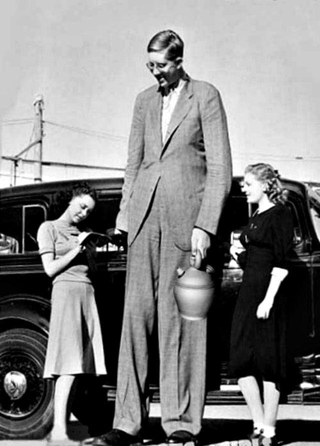 Robert Wadlow. Link #64: The World's Tallest Man Was Almost 9 Feet ...