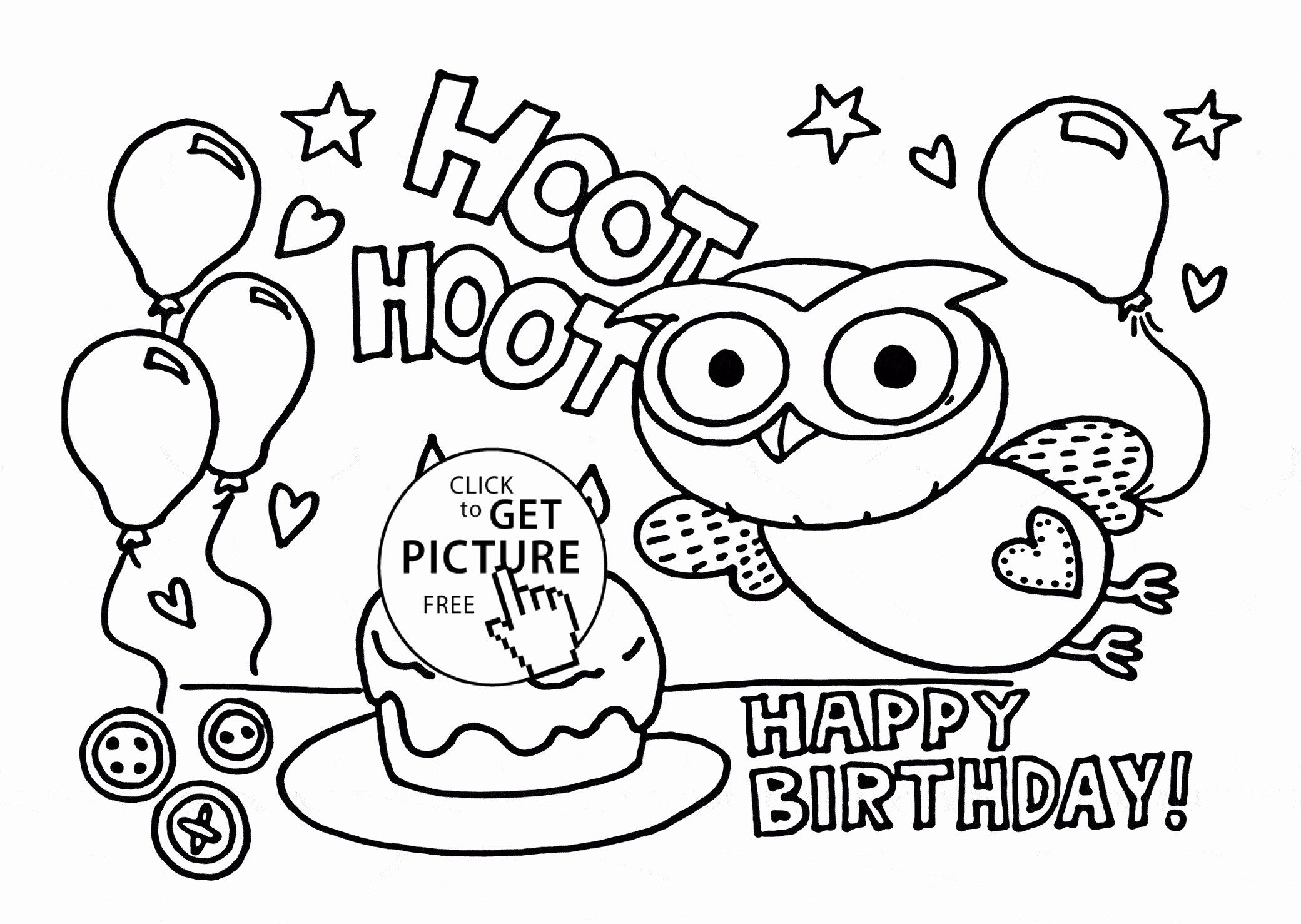 Coloring Pages For Your Boyfriend Unique Awesome Birthday Balloons