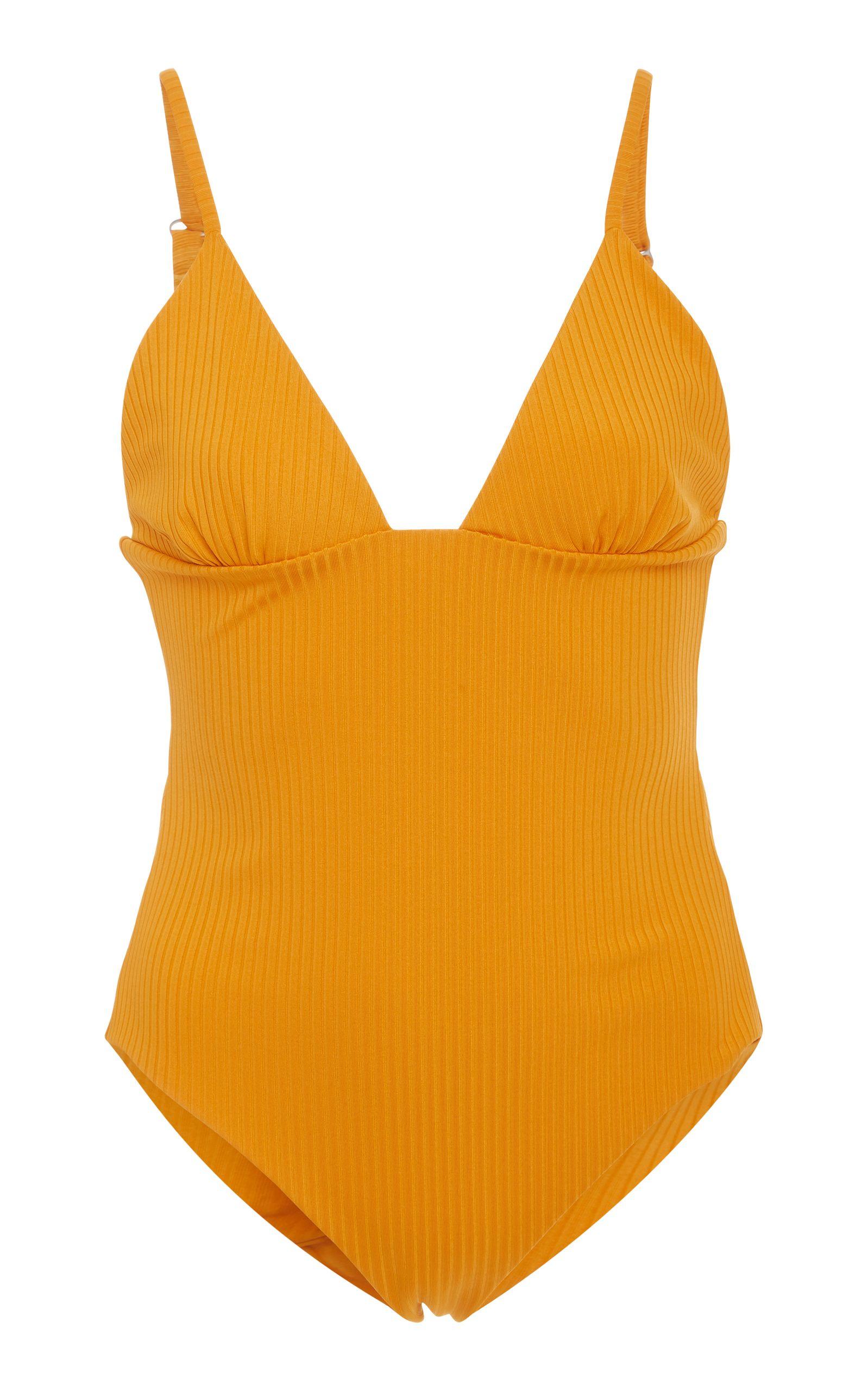39174200c6 Mara Hoffman Virginia Ribbed One-Piece Swimsuit