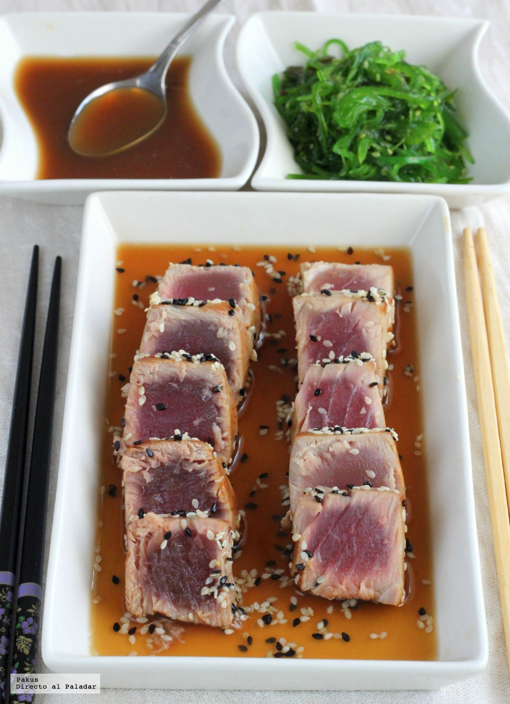 Tataki de atn con salsa ponzu receta oriental httpfeeds food forumfinder Gallery