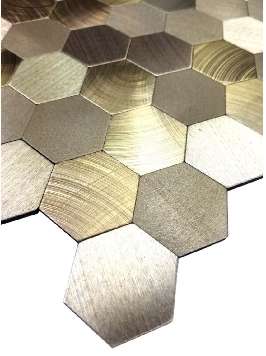 Enchanted Metals 12 X 12 Metal Peel Stick Mosaic Tile Gold Tile Stick On Tiles Mosaic Tiles
