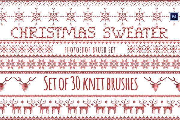01e3f289bf539 Christmas Sweater Brushes Photoshop