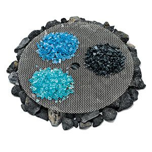 Use Colored Glass To Get Your Fire Pit Glowing Put Lava Rock On