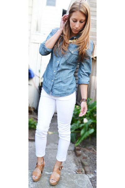 desperately want some white skinny cropped pants! In denim :) | My ...