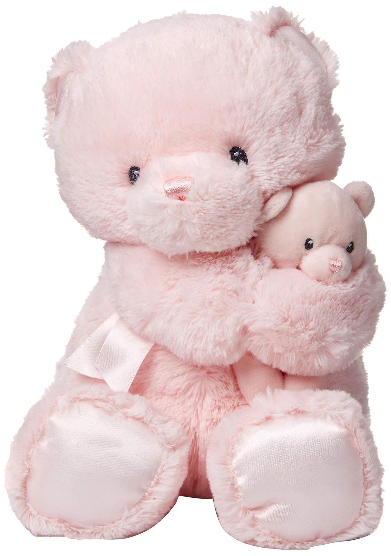 Gund Momma And Baby Teddy Bear Stuffed Animal Plush Rattle Pink 11 Teddy Bear Stuffed Animal Bear Stuffed Animal Baby Teddy Bear [ 1842 x 1296 Pixel ]