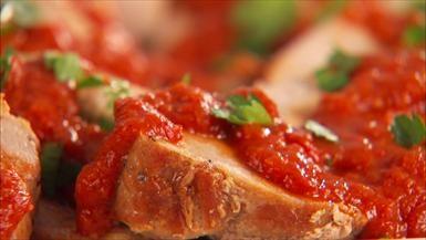 Giada De Laurentiis - Roasted Pork with Smoky Red Pepper Sauce