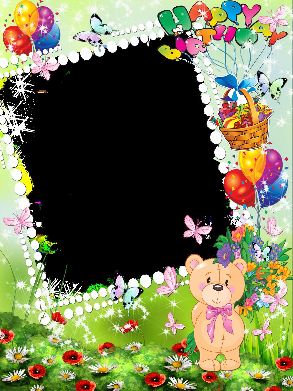 Открытка рамка с днем рождения девочке, поздравления началом