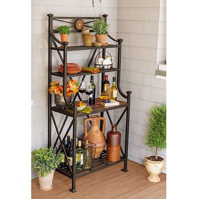 Berkley Jensen Calais Baker S Rack Outdoor Bakers Rack Rack