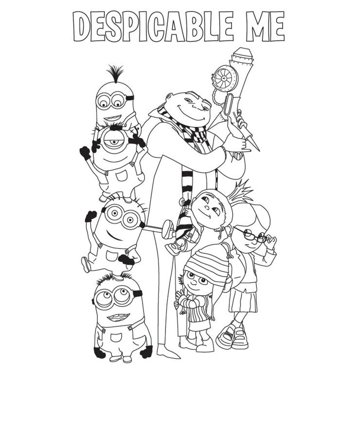 Despicable Me Coloring Pages The Family 1 145 1 432