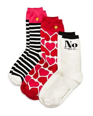KATE SPADE KATE SPADE NEW YORK CREW SOCKS, SET OF 3. #katespade #cloth #