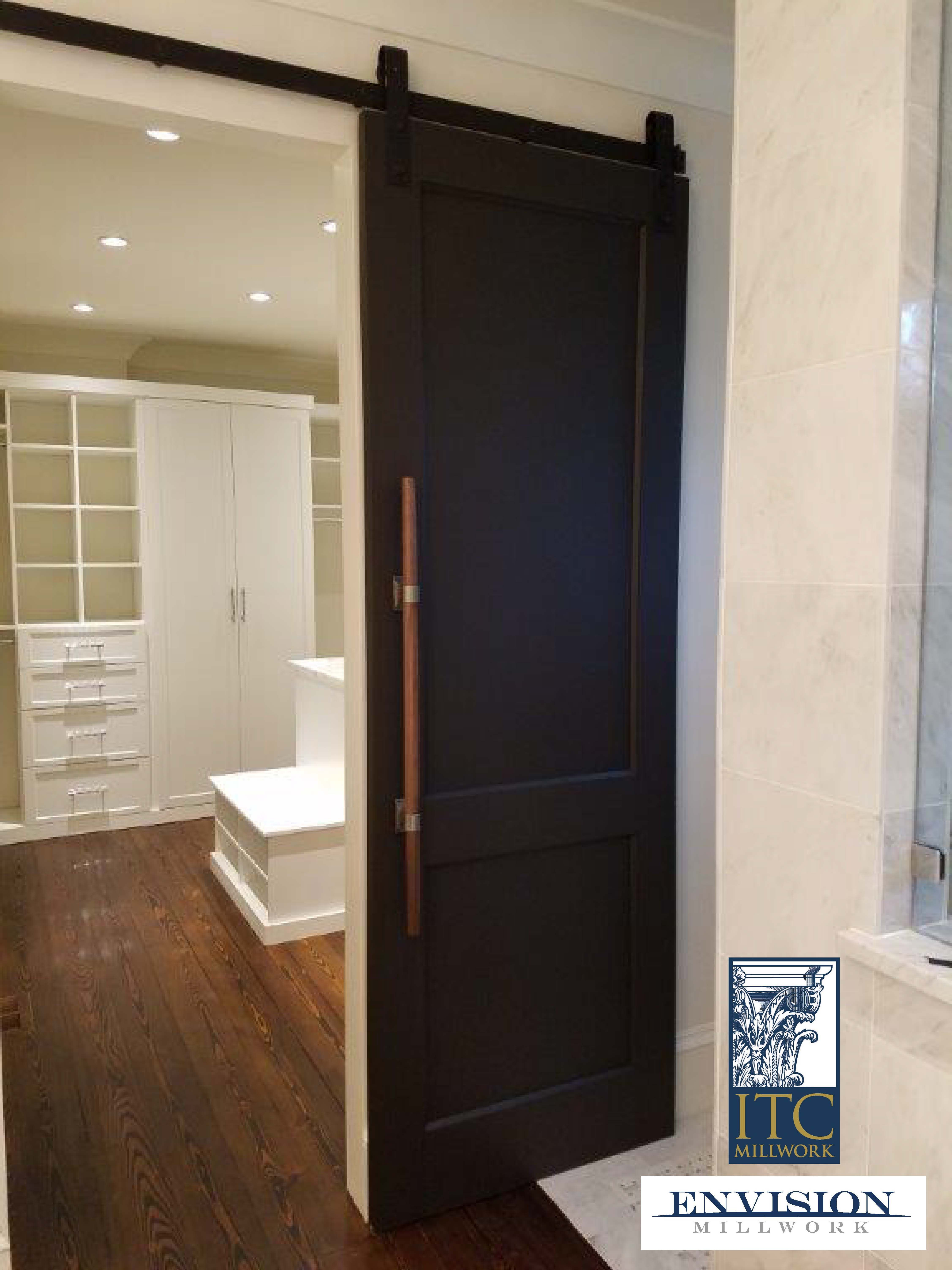 Recent ITC Millwork Bath To Closet Barn Door Collaboration With Superstar  Installers Envision Millwork.