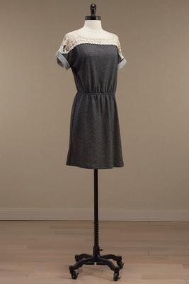Versona crochet shoulder knit dress #Versona