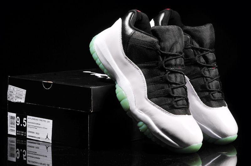 Mens Air Jordan 11 Retro White Black shoes