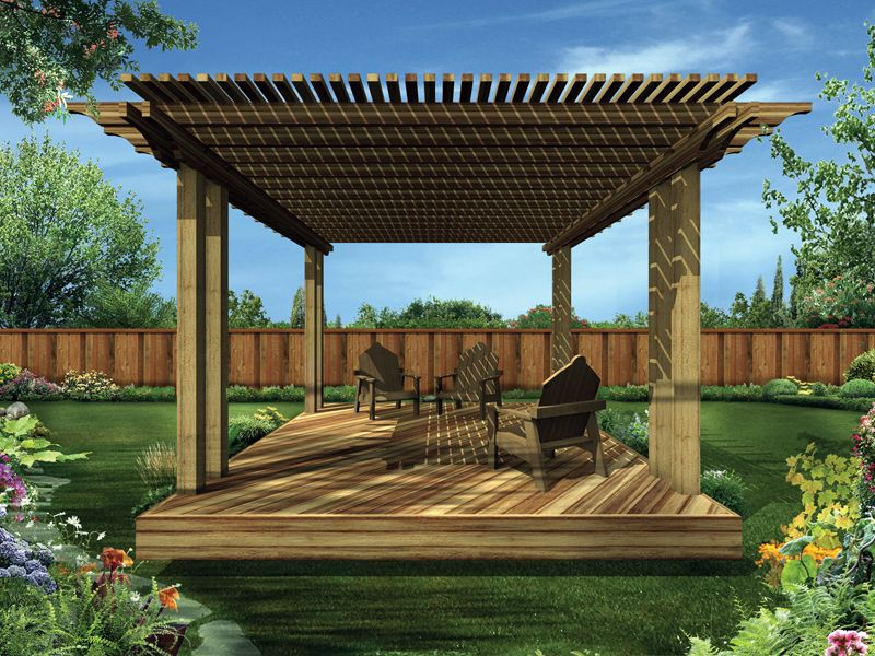 maryknoll shaded deck | slate roof, decking and slate - Shaded Patio Ideas