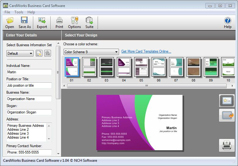 CardWorks Business Card Software Plus is a great software for - invoice maker software