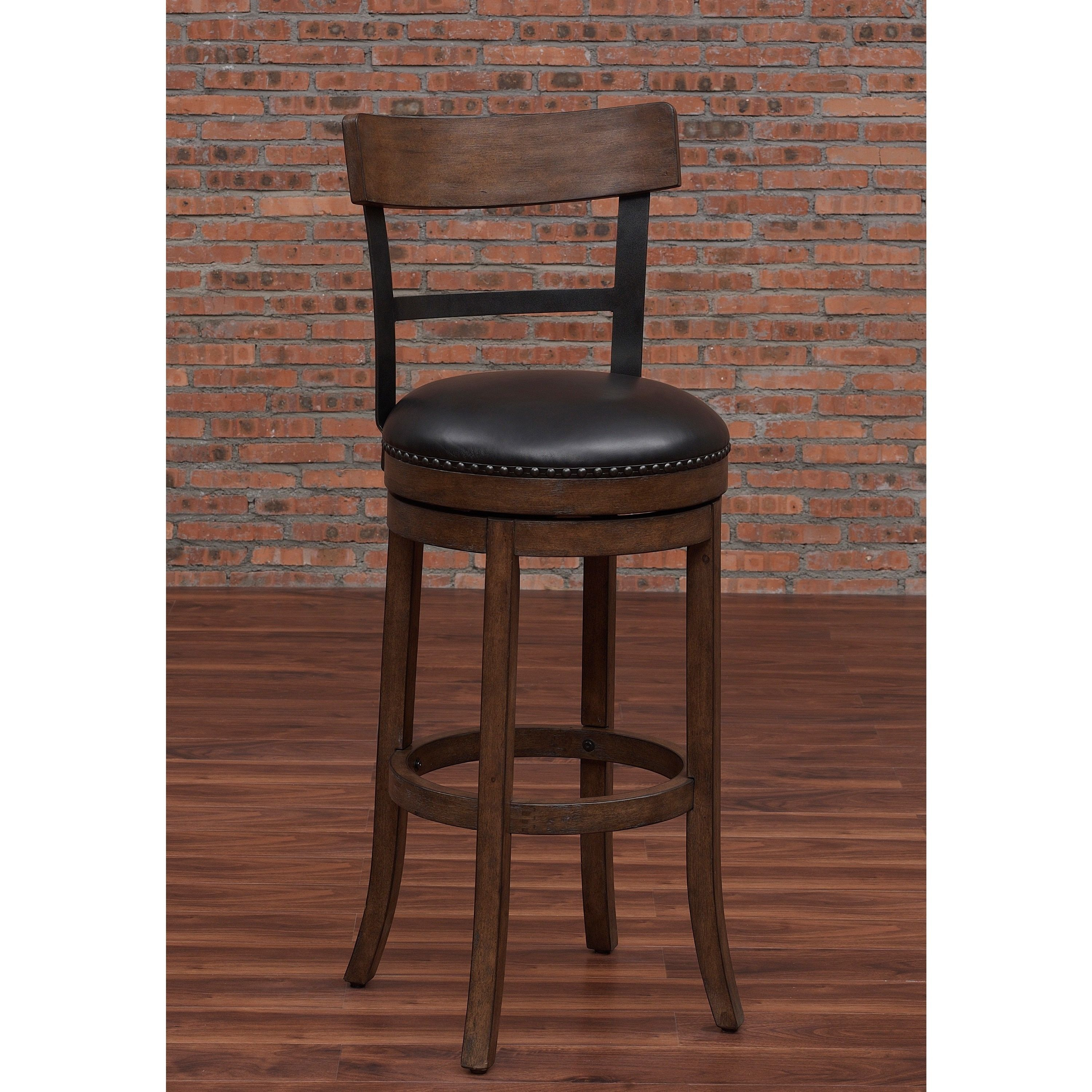 Greyson Living Siena Swivel Counter Stool Siena 26 Brown Bonded