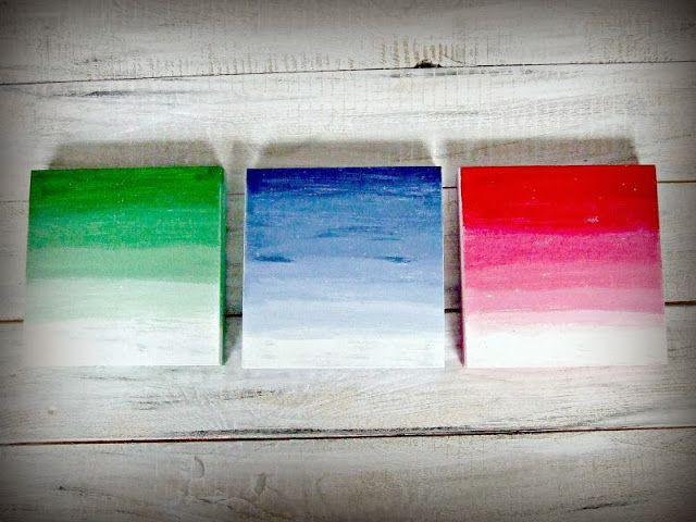 Kolorowe pudełka hand made ombre - Eco Manufaktura pracownia decoupage i hand made