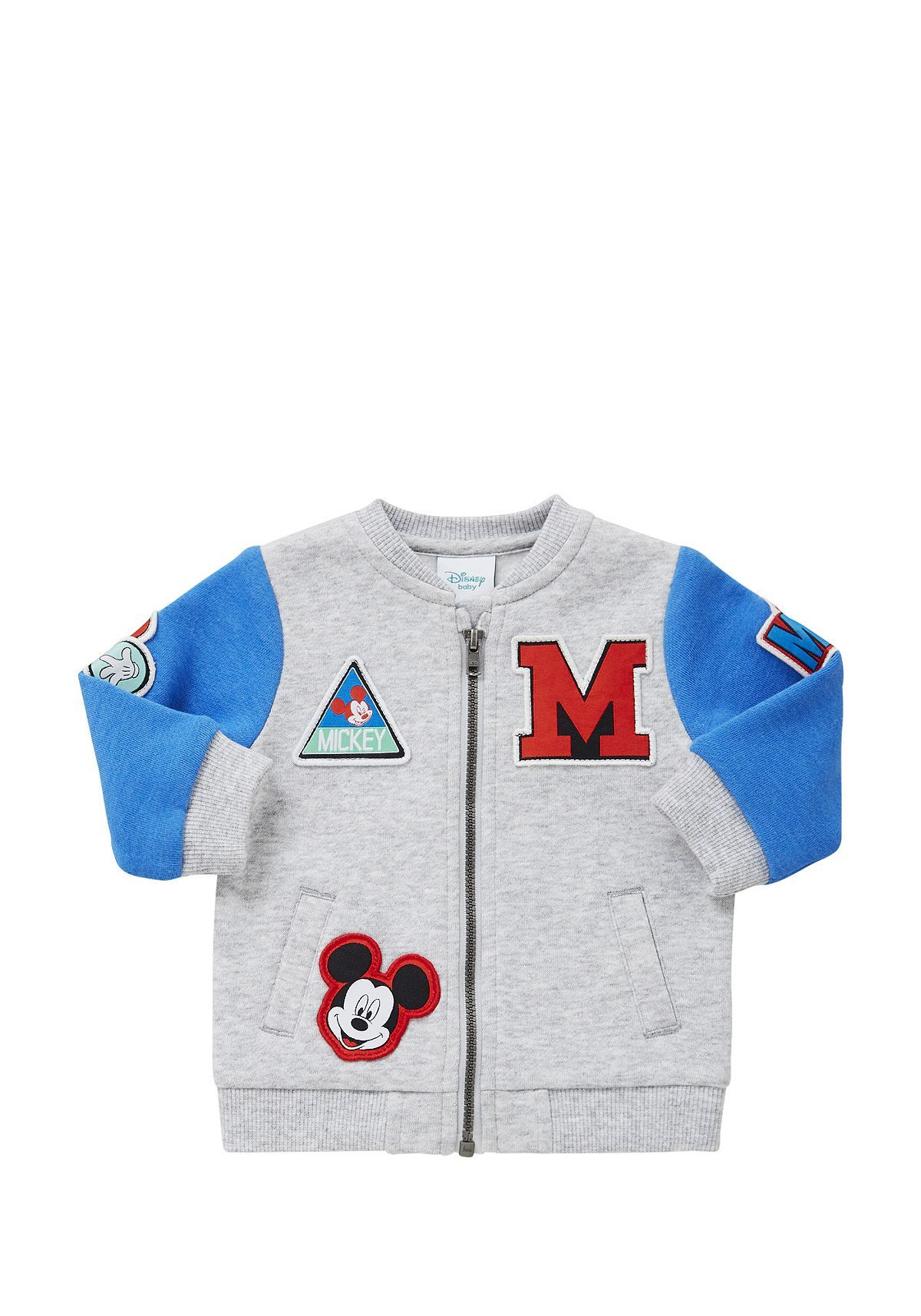 Tesco Direct Disney Mickey Mouse Jersey Bomber Jacket Baby Jacket Baby Disney Baby Boy Jackets [ 1714 x 1200 Pixel ]