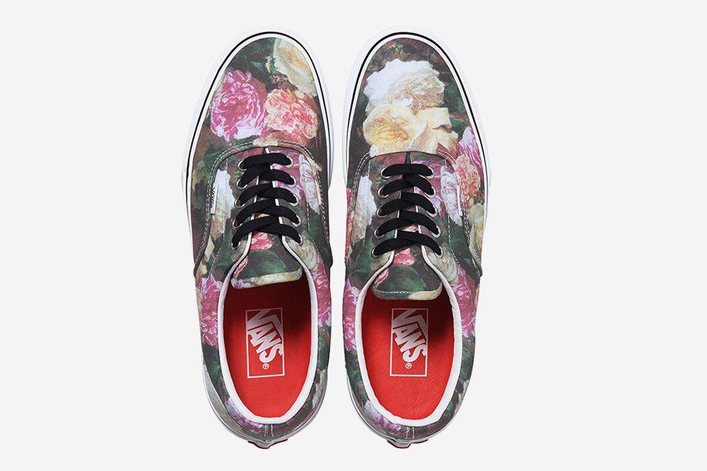 basket vans a fleur