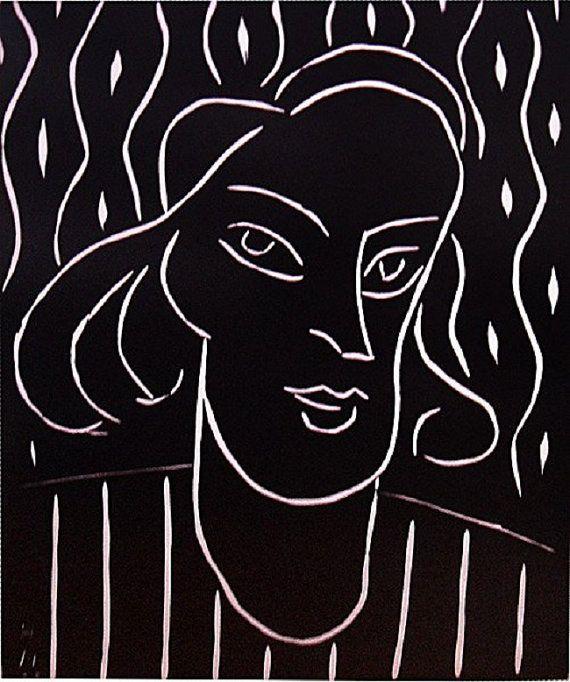 Henri Matisse  Teeny   Original  Lino Cut by HouseofStowFineArts, $250.00