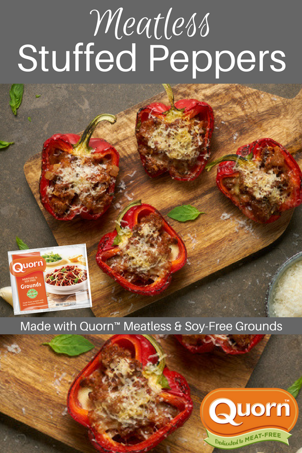 Quorn Meatless Stuffed Peppers Recipe Recipes Mexican Food Recipes Food