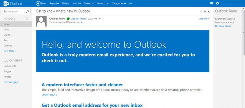 Goodbye, Hotmail and hello,