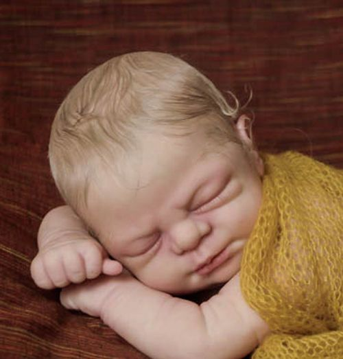 MELISSA GEORGE Reborn Blonde Baby Girl * EXTREMELY DETAILED DOLL *Free Shipping