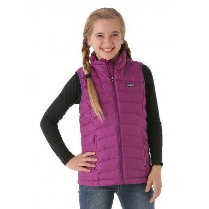 08af9cc2f Patagonia Girls Down Sweater Vest (Ikat Purple) | Kids Winter Gear ...